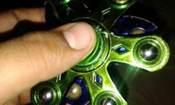 Green And Blue Hand Spinners Pure Metal And Bargain is