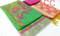 Green And Pink Fringe Textiles