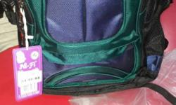 Green And Purple Backpack
