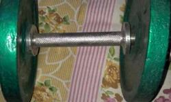 Green And Silver Dumbbell