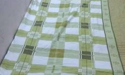 Green And White Bed Sheet
