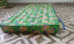Green, White, And Brown Floral Mattress.size=3*6.25.