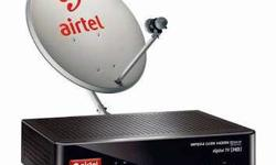 Grey And Black Airtel Parabolic TV Dish