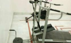 Grey And Black Multi Gym Equipment