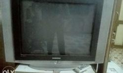 Grey And Black Samsung Widescreen CRT TV good working