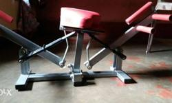 Grey And Red Exercise Machine