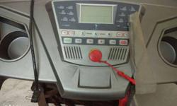 Grey automated tread mill with weight capacity of 100