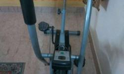 Grey Black Stationary Bike