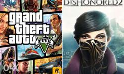 GTA 5 And Dishonored 2 Game Pc games. 100 percent