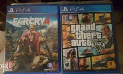 GTA 5 + FARCRY 4 (PS4 games)