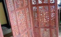 Handcarved wooden partition for sale, 1-year-old,