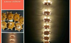 Decorative hanging led-lights comprised of chain of