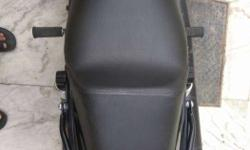 Harley custom seat with backrest projection, for long