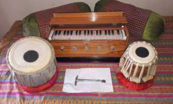 harmonium & tabla in original condition(unused).