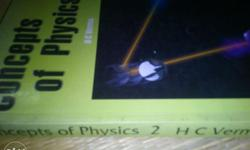 hc verma book of physics vol 1 and vol 2 . perfect book
