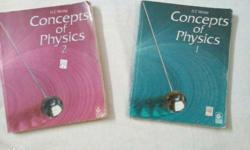 HC Verma part I and II for sale at a very low price.