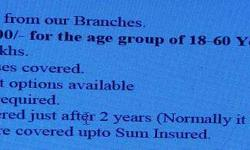 health insurance with out medical 18-60 age
