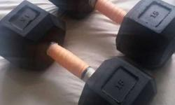 hexagonal dumbbells 30kgs (15kg x 2). Not used as too