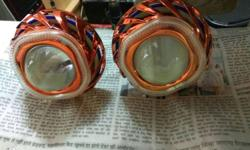 HID Projector lights with double ring or devil eye for