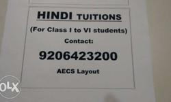 Hindi Tuition . CBSE ,ICSE,