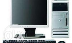 "HP pentium D complete Set Rs.5000 With 17""lcd For"