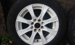 14 inch 4* 100/108 pcd Hrs alloys with tyres.