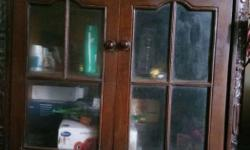 I want to sell, Brown Wooden Cabinet (t.v. really) good