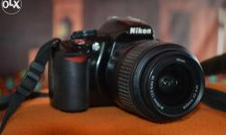 nikon 3100 dslr very good condition only 2 year