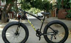 Imported fat bike 26�4 front shocker duel disk 7 speed