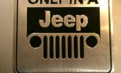 Imported jeep accessories and metal stickers / decals