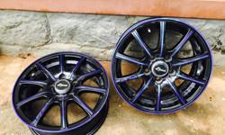 imported k speed gtr alloys 14 inch.. 5 holes.suitable