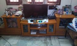 Excellent condition Imported Showcase TV cabinet.