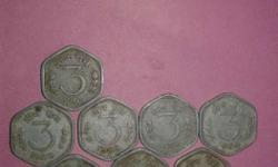 Eight Silver 3 Coins