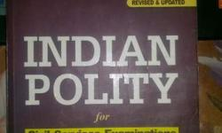 Indian Polity By Laxmikanth Book For Sale. in very new