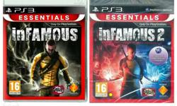 Infamous 1 and 2 Play station 3 - Ps3 game cases. 750