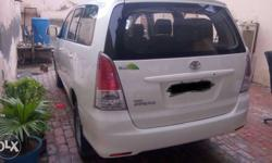 Innova white colour with alloy wheels touch player Pb