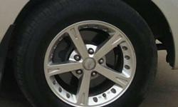 Four nos of used HRS brand alloy wheels