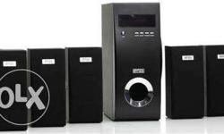 Intex IT 5400 FM 5.1 channel speaker with subwoofer for