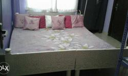 it is a sagwan double bed with sagwan wood dressing