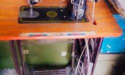 It is a sewing machine with stand.. it can be used by