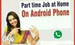 its a smart phone job, you can do it from your home, in