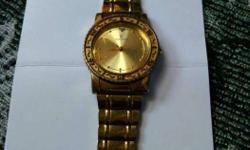 TIME GOLD WRIST WATCH (fully gold plated watch and