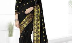 Jaqard work cotton saree sale single piece