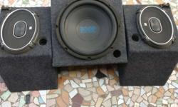 2JBL Speakers with box 1 woofer with box 1Aplifier 4