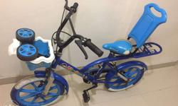 Kids bicycle with side wheels for 4-6 year old.