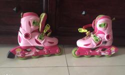 Kids inline roller skates, sparingly used in good