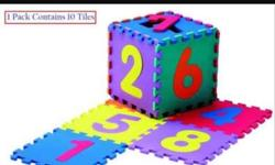 kids learning mat puzzle 0 to 9..big size hardly used..