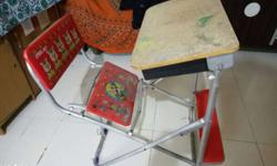 kids study table with attached chair good material ,leg