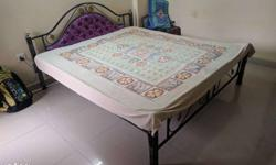King size bed with mattress free. MOVING OUT SALE.