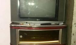 L.g.TV with troli in good condition